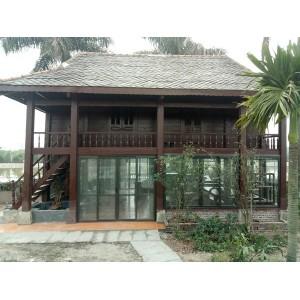 Công trình cửa nhôm Việt Pháp cho nhà gỗ tại Hà Nội