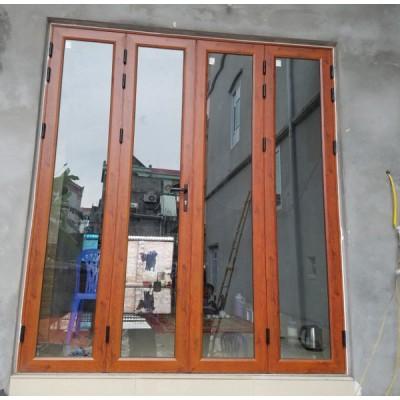 Làm cửa nhôm Xingfa vân gỗ nhà Biệt Thự tại Bắc Giang