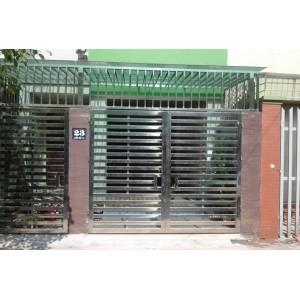 Mẫu cửa cổng inox 2 cánh đẹp