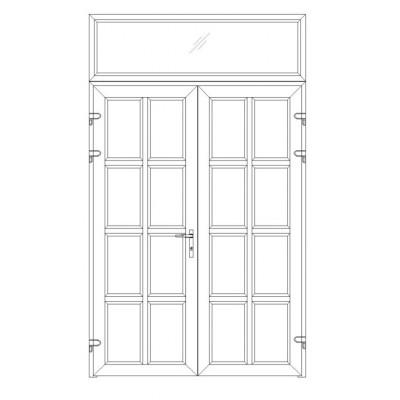 Một số mẫu chia đố cửa nhựa lõi thép cho cửa đi 2 cánh