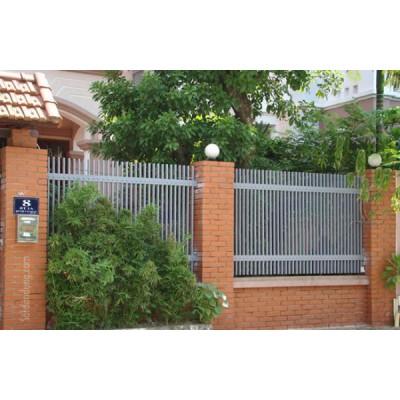 26 mẫu hàng rào sắt hộp, đẹp, hiện đại, mới nhất