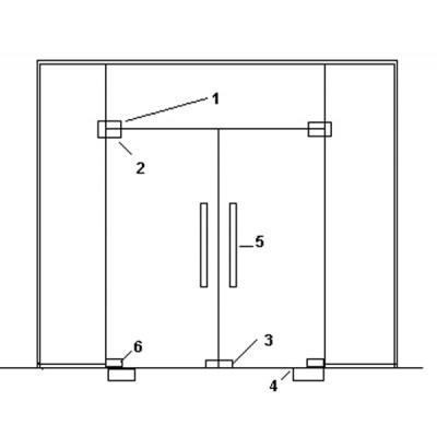 Cửa kính thủy lực bản lề sàn