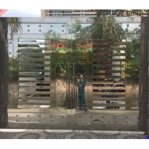 Những mẫu cổng inox 2 cánh đẹp và mới nhất hiện nay