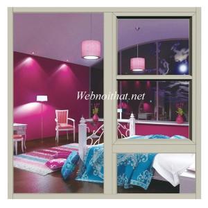 Hình ảnh cửa sổ kết hợp với vách kính nhôm Xingfa nhập khẩu
